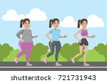 from fat to slim. woman... | Shutterstock .eps vector #721731943