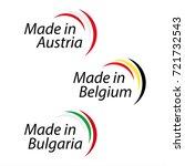 simple logos made in austria ... | Shutterstock .eps vector #721732543