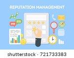 reputation management concept... | Shutterstock .eps vector #721733383