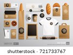 branding mockup set for bakery... | Shutterstock .eps vector #721733767