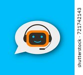 chatbot concept chat bot vector ... | Shutterstock .eps vector #721742143
