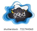 good dream text design under...   Shutterstock .eps vector #721744363