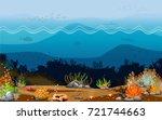 underwater scenes with many...   Shutterstock .eps vector #721744663