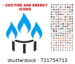 burner nozzle fire icon with... | Shutterstock .eps vector #721754713