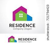 residence logo template design... | Shutterstock .eps vector #721756423