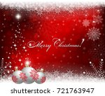 christmas red  bright... | Shutterstock . vector #721763947