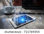 business structure diagram ... | Shutterstock . vector #721769353