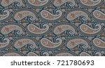 seamless paisley indian motif | Shutterstock . vector #721780693