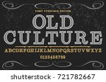 vintage font alphabet... | Shutterstock .eps vector #721782667