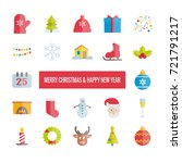 merry christmas and happy new... | Shutterstock .eps vector #721791217