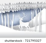 paper art landscape of... | Shutterstock .eps vector #721795327