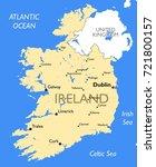 ireland map   vector detailed...   Shutterstock .eps vector #721800157