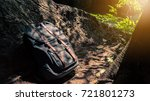lifestyle hiking camping retro... | Shutterstock . vector #721801273