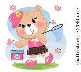 happy summer  cartoon cute... | Shutterstock .eps vector #721805557