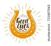 horseshoe talisman. luck ... | Shutterstock .eps vector #721807063