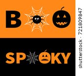 word boo spooky text with... | Shutterstock .eps vector #721809847