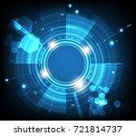 vector tech circle with various ... | Shutterstock .eps vector #721814737
