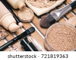 foundation make up products ... | Shutterstock . vector #721819363