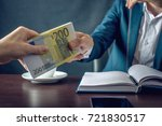 man businessman in suit takes... | Shutterstock . vector #721830517