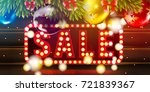 christmas sale vector ads...   Shutterstock .eps vector #721839367