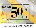 sale advertisement banner with... | Shutterstock .eps vector #721845553