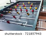 foosball table soccer .... | Shutterstock . vector #721857943