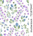 watercolor illustration flower... | Shutterstock . vector #721870447