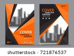 orange color scheme with city... | Shutterstock .eps vector #721876537