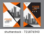orange color scheme with city... | Shutterstock .eps vector #721876543