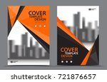 orange color scheme with city... | Shutterstock .eps vector #721876657