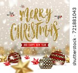 vector christmas greeting... | Shutterstock .eps vector #721881043
