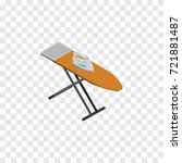 isolated ironing board... | Shutterstock .eps vector #721881487