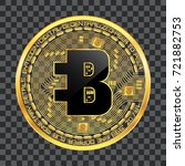 crypto currency golden coin... | Shutterstock .eps vector #721882753