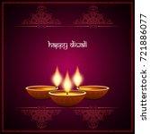 abstract beautiful happy diwali ... | Shutterstock .eps vector #721886077