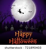 halloween party background | Shutterstock . vector #721890403