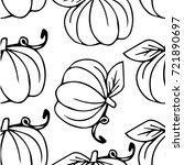 pumpkin illustration. doodle.... | Shutterstock . vector #721890697
