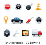 vector car icons | Shutterstock .eps vector #72189445