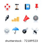 web icons | Shutterstock .eps vector #72189523
