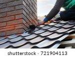 Roofer Builder Worker Attach...