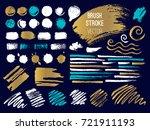 set stroke spot. brush  pen ... | Shutterstock .eps vector #721911193