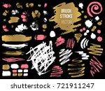 set stroke spot. brush  pen ... | Shutterstock .eps vector #721911247