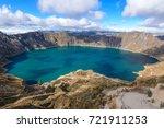 quilotoa crater lake  ecuador | Shutterstock . vector #721911253