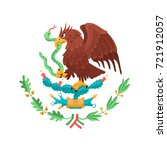 mexican eagle isolated on white ... | Shutterstock .eps vector #721912057