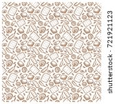 seamless pattern of biscuit ... | Shutterstock .eps vector #721921123