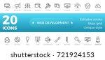 web development icons set....