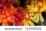 Fall Flowers Colorful Background