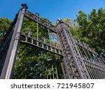 ancient openwork fencing with... | Shutterstock . vector #721945807