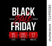 abstract vector black friday...   Shutterstock .eps vector #721950283