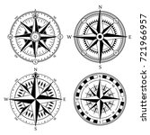 vintage nautical compass signs...   Shutterstock .eps vector #721966957