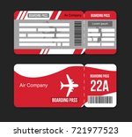 travel concept airplane tickets ... | Shutterstock .eps vector #721977523